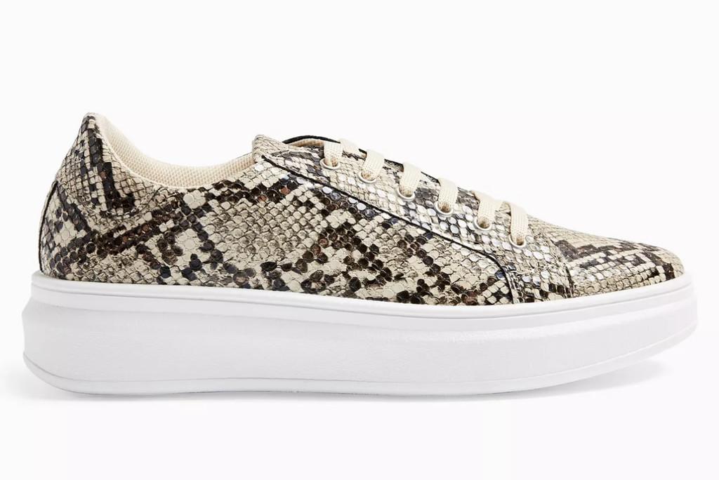 topshop shoe sale, topshop snakeskin sneakers, snakeskin sneakers