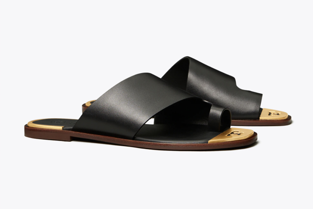 tory burch, toe ring slide