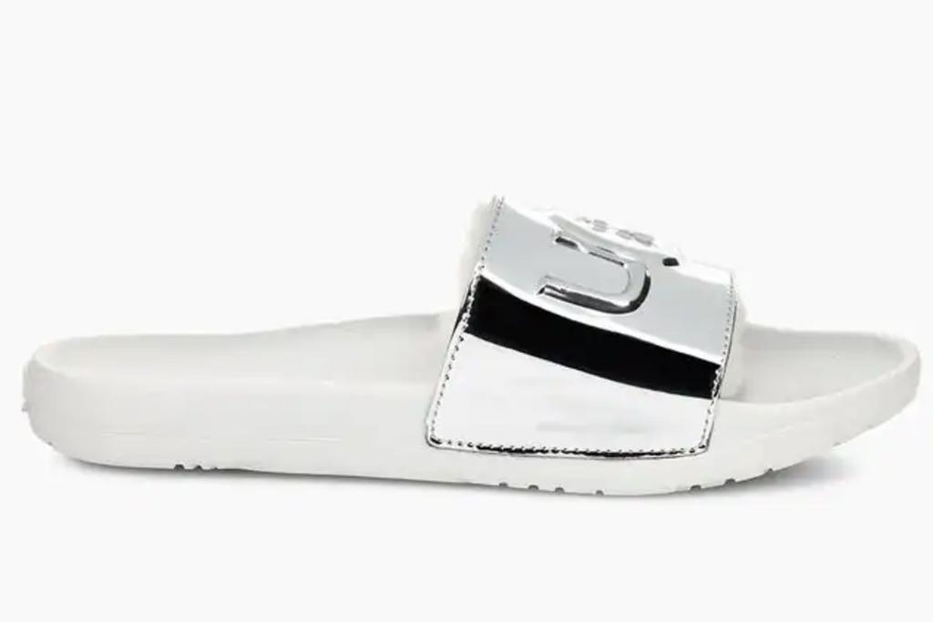 ugg, silver, slides