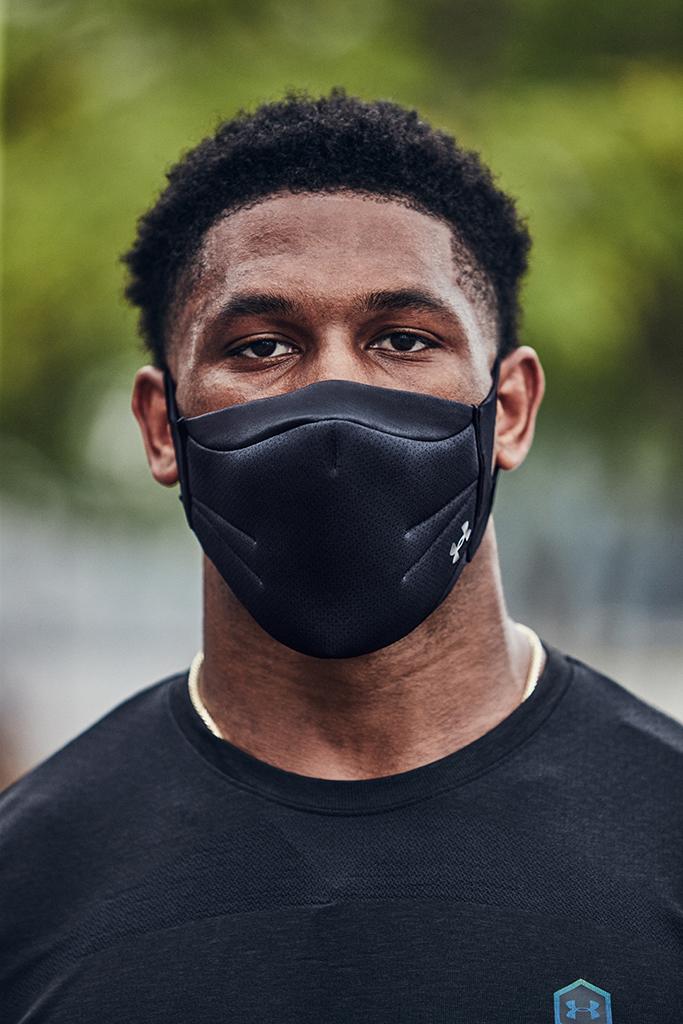 New Orleans Saints Wide Receiver Deonte Harris Under Armour UA Sportsmask