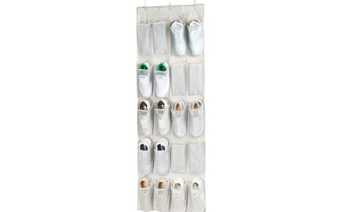 AmazonBasics 20-Pocket Over-the-Door Hanging Large-Size Shoe Organizer