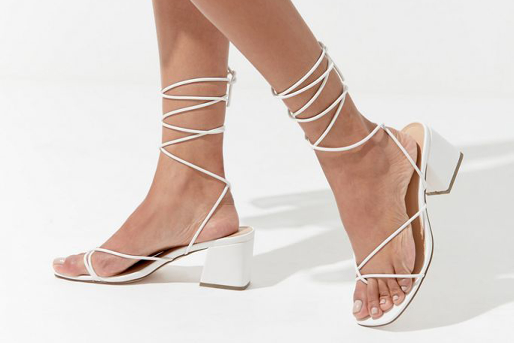 urban outfitters, white sandals