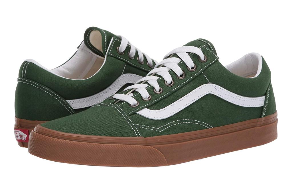 vans, green, sneakers