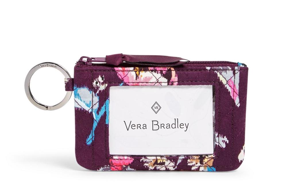 vera bradley sale, vera bradley id case, floral wallet
