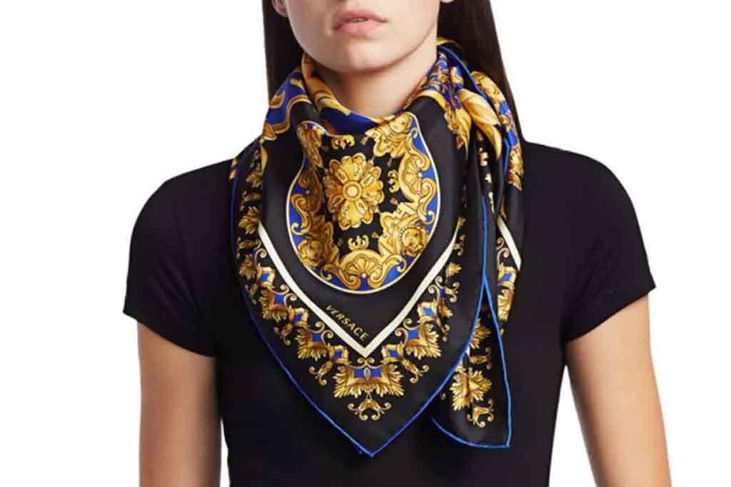 Versace, silk scarf