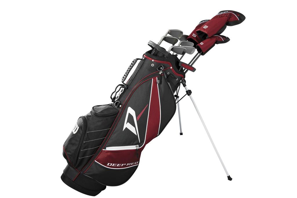 wilson, deep red, golf clubs
