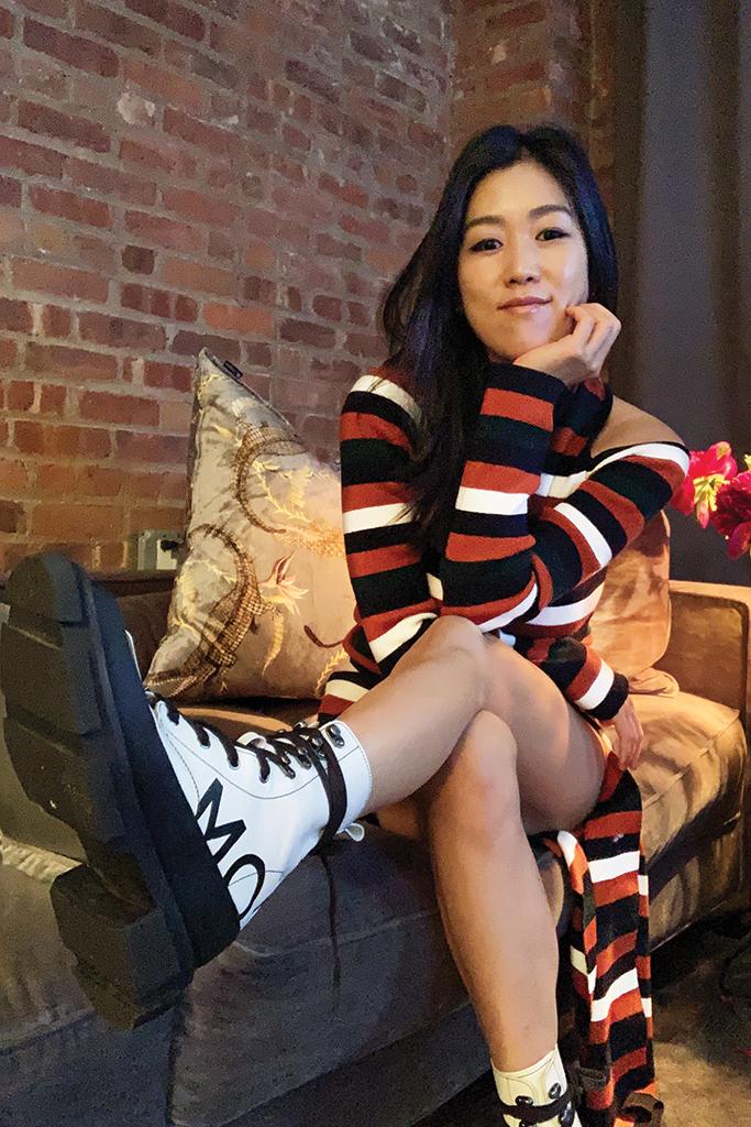 laura kim, monse, oscar de la renta, laura kim and fernando garcia, both boots, both collaboration monse, work from home, fashion designer