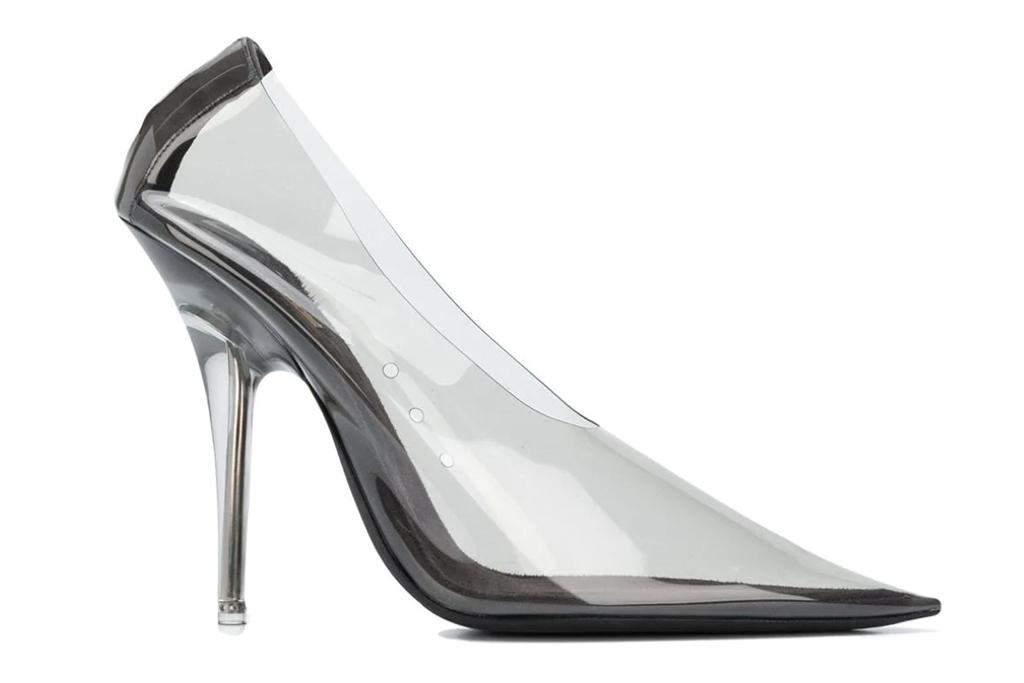 yeezy, clear heels, Khloé Kardashian