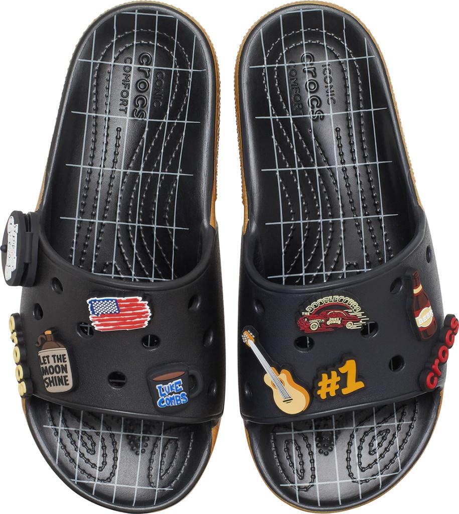 Luke combs crocs, crocs slides, Luke Combs x Crocs Classic Bootlegger Slide