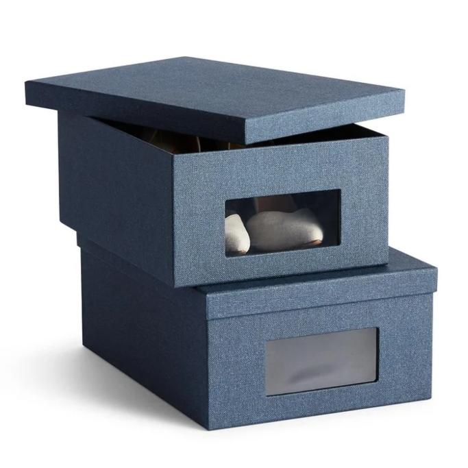 California Closets Bleecker Shoe Storage Box Set, shoe storage boxes