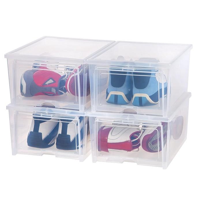 Iris USA Inc. Men's Shoe Boxes, best shoe storage boxes