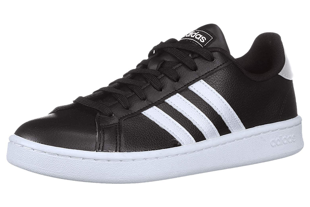 adidas, grand court, sneaker, black, white