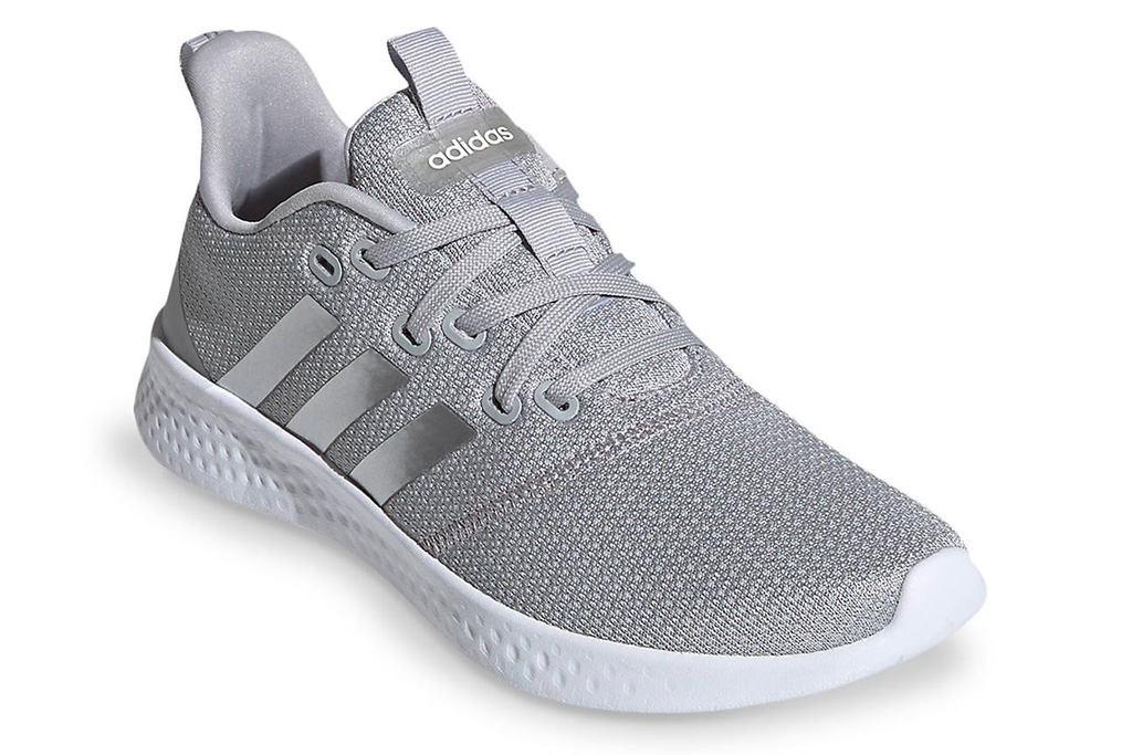 adidas, gray running shoes