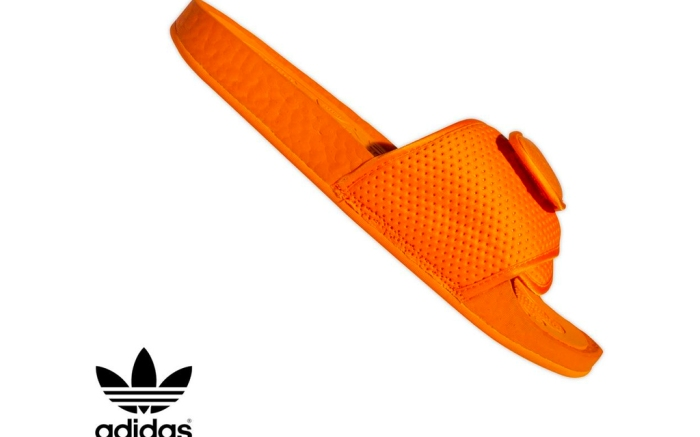 adidas, pharrell williams, slides, boost slide, orange, black, pink, pharrell, sandals