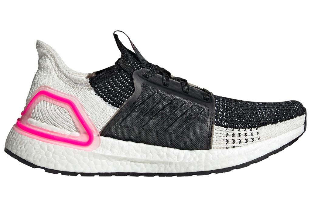 adidas, running shoes, pink, white, black