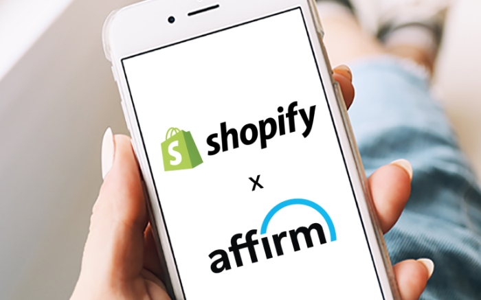 Phone screenshot of shopify x affirm partnership