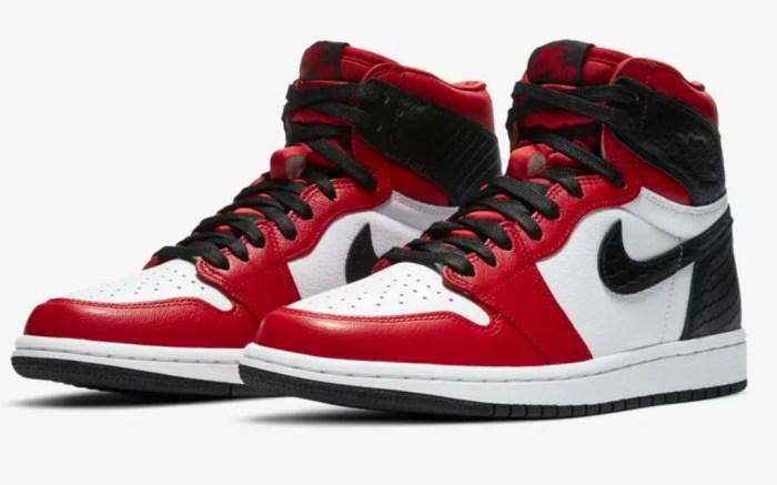 air jordan, retro 1, red, satin red, high, womens, black, white