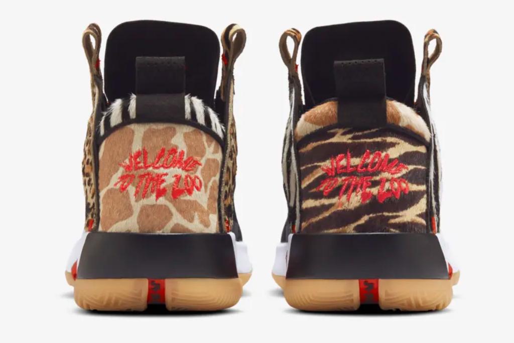 """Jayson Tatum, Air Jordan 34 """"Zoo"""", air jordan, 34, zoo, red, cheetah"""