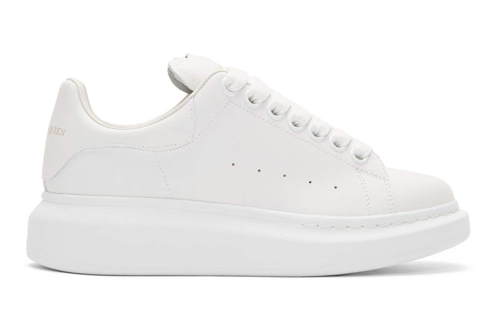 alexander mcqueen, sneakers, white, chunky, platform