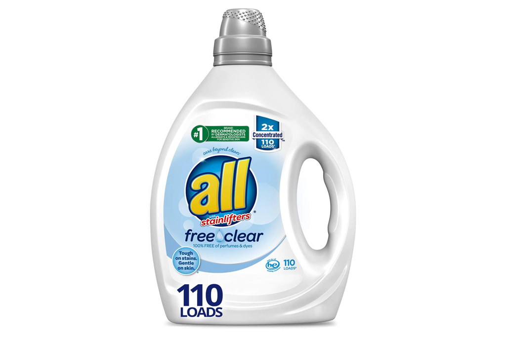 laundry detergent, bleach, all