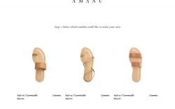 Amanu customizable sandals website