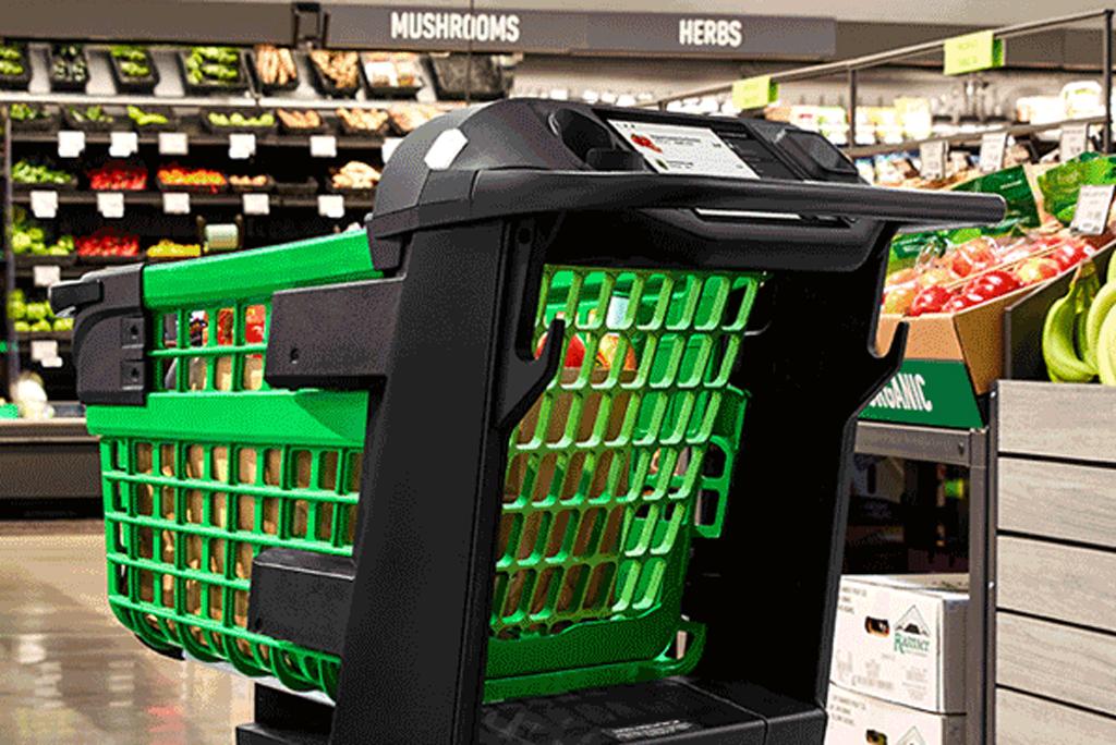 Amazon Smart Shopping Cart Amazon Dash Cart Lets You Skip Checkout Footwear News