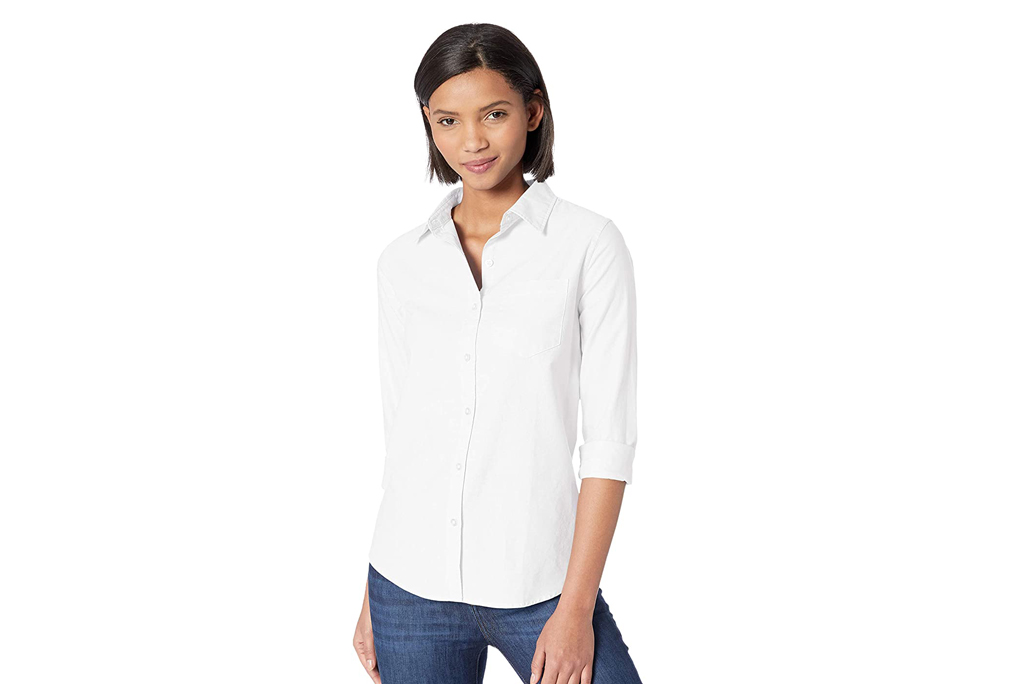 Amazon Essentials, Women's Classic Fit Long Sleeve Button Down Oxford Shirt