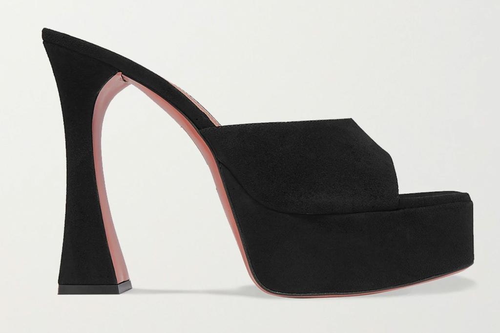 amina muaddi, platform, heels, sandals, flare