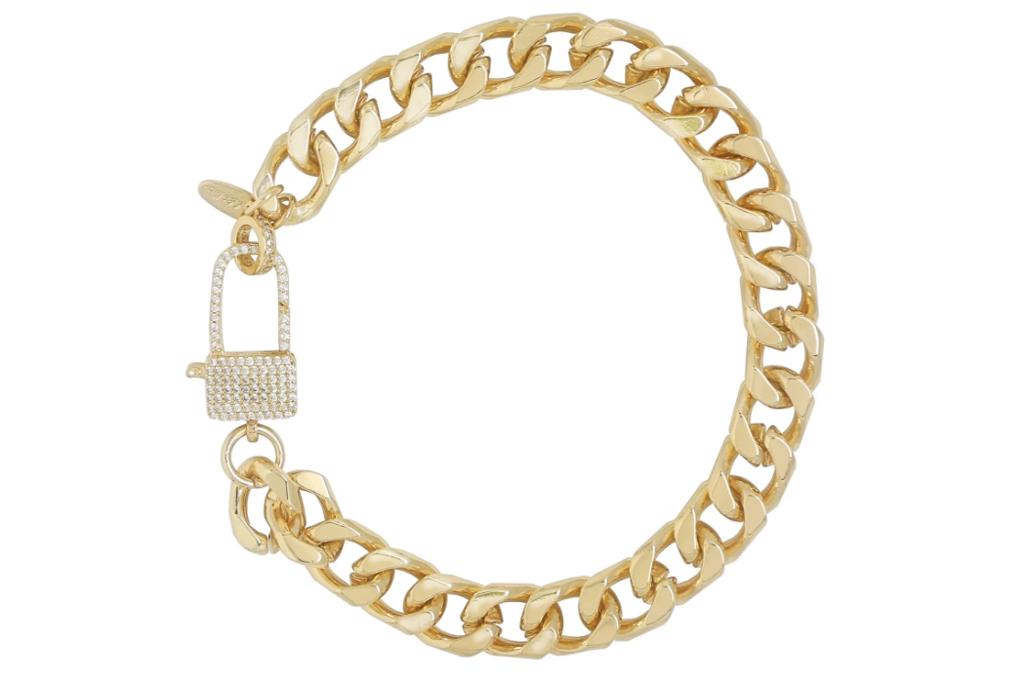Ettika, gold ankle chain