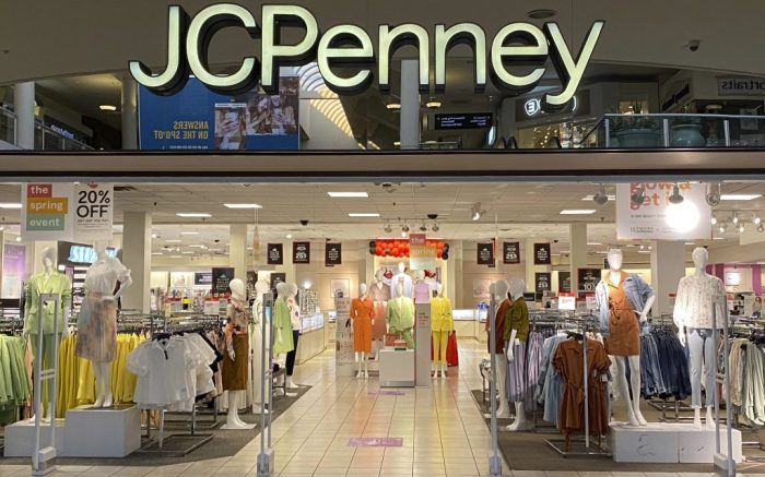 General overall view of the JC Penney department store at The Shops at Montebello mall in the wake of the coronavirus pandemic outbreak, Wednesday, March 18, 2020, in Montebello, Calif. California Governor Gavin Newsom on Thursday ordered the state's 40 million residents to stay at home and shelter in place. (Kirby Lee via AP)