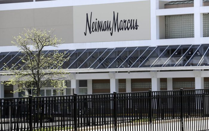 A closed Neiman Marcus store is seen at the Garden State Plaza mall in Paramus, N.J., Thursday, May 7, 2020. Neiman Marcus filed for Chapter 11 bankruptcy protection, sounding an ominous note for department stores during the pandemic. (AP Photo/Seth Wenig)