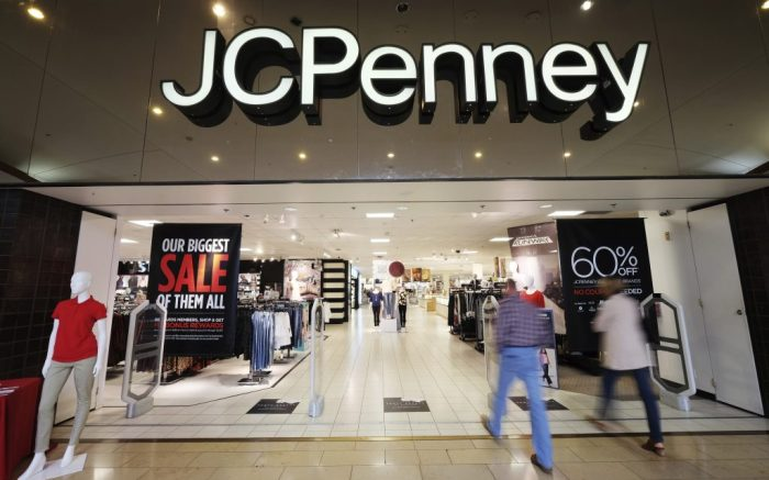 Exterior of a JCPenney retail store at the Annapolis Mall in Annapolis, Maryland October 27, 2017. With Amazon's sales in North America surging, retail stores such as JCPenney face a challenging future. JCPenney, founded in 1902 is an American department store chain with locations in 49 U.S. states and Puerto Rico. (AP Photo/NewsBase)