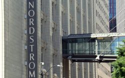 The Nordstrom sign is seen on