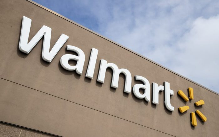 File - A Walmart in Warrington, Pa., is shown Tuesday, March 17, 2020. A couple in Minnesota wore red face masks emblazoned with swastikas to a Walmart in a video posted on social media. Police were called Saturday, July 25, 2020, to the Walmart in Marshall, Minn., in the southwest part of the state, on a report that two shoppers were wearing the mask with the symbol used by the Nazi Party. (AP Photo/Matt Rourke, File)
