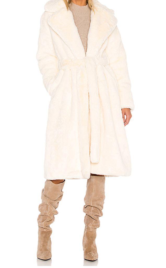 apparis faux fur coat, apparis, faux fur coat, fall 2020 fashion trends, fashion trends, teddy coat