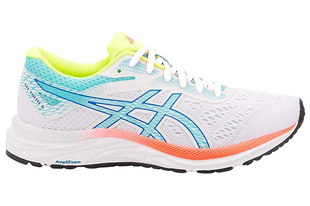 asics, running shoes, white, neon