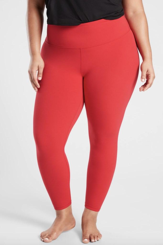 Athleta, red leggings