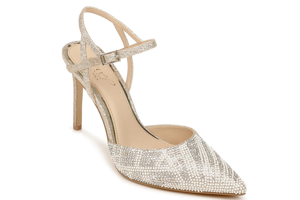 Jewel badgley mischka, Fedora Crystal Embellished Pointed Toe Pump