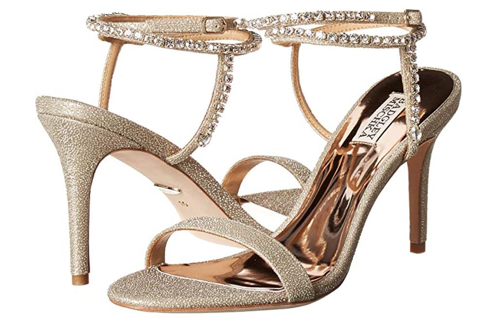 Badgley Mischka Claudette, gold sandals