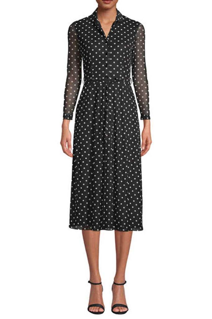 Anne Klein, polka-dot dress