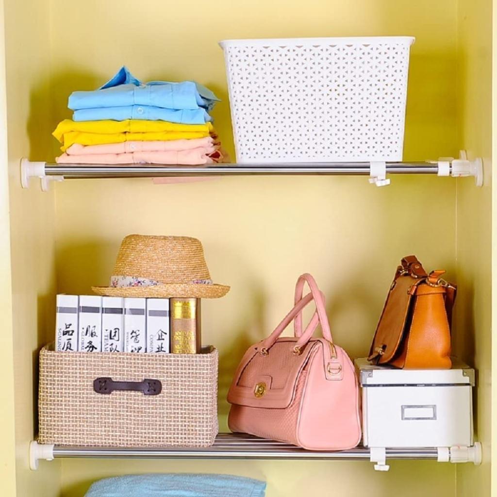 Baoyouni Expandable Closet Tension Shelf