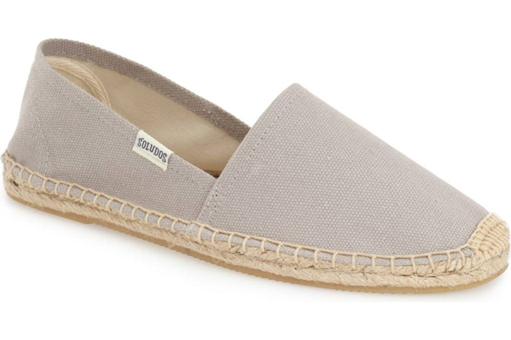 souludos espadrilles, best shoes to match with nap dress trend, gray espadrilles