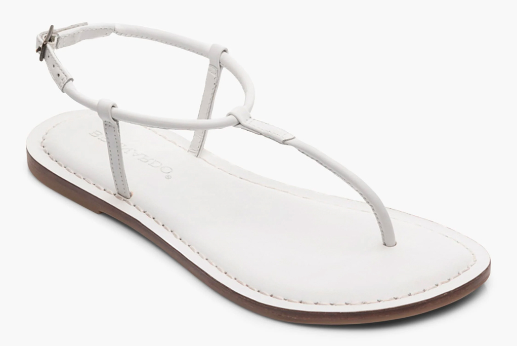 bernardo, thong sandals, white