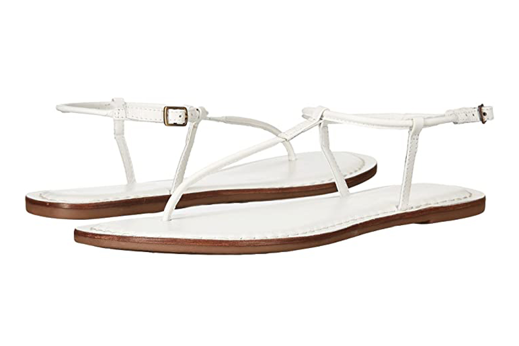 Bernardo, white sandals