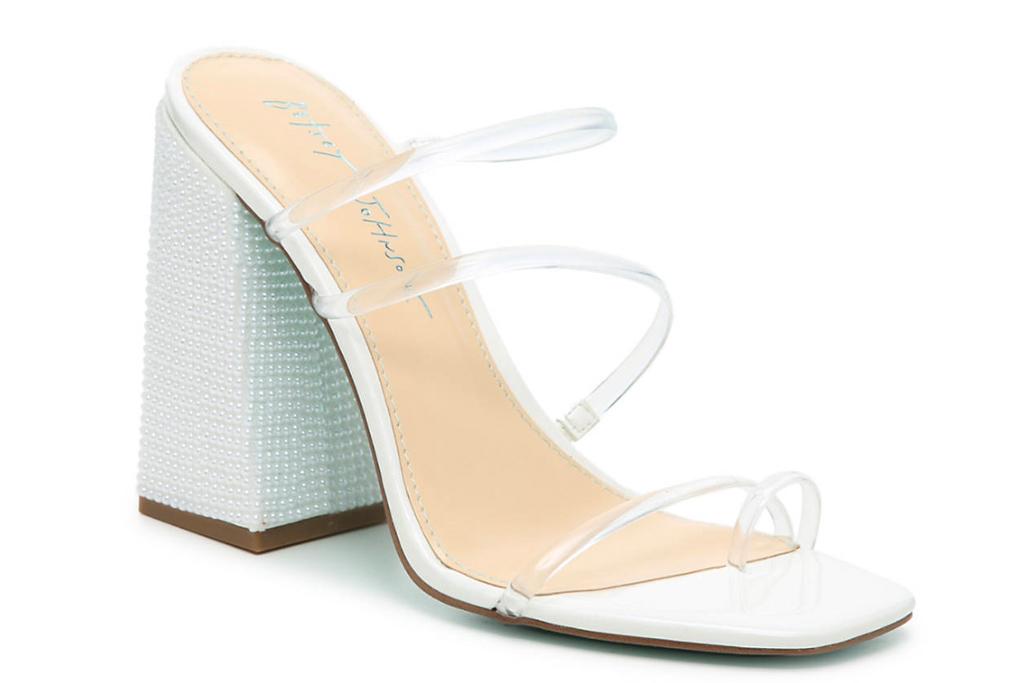 betsey johnson, clear heels, pvc