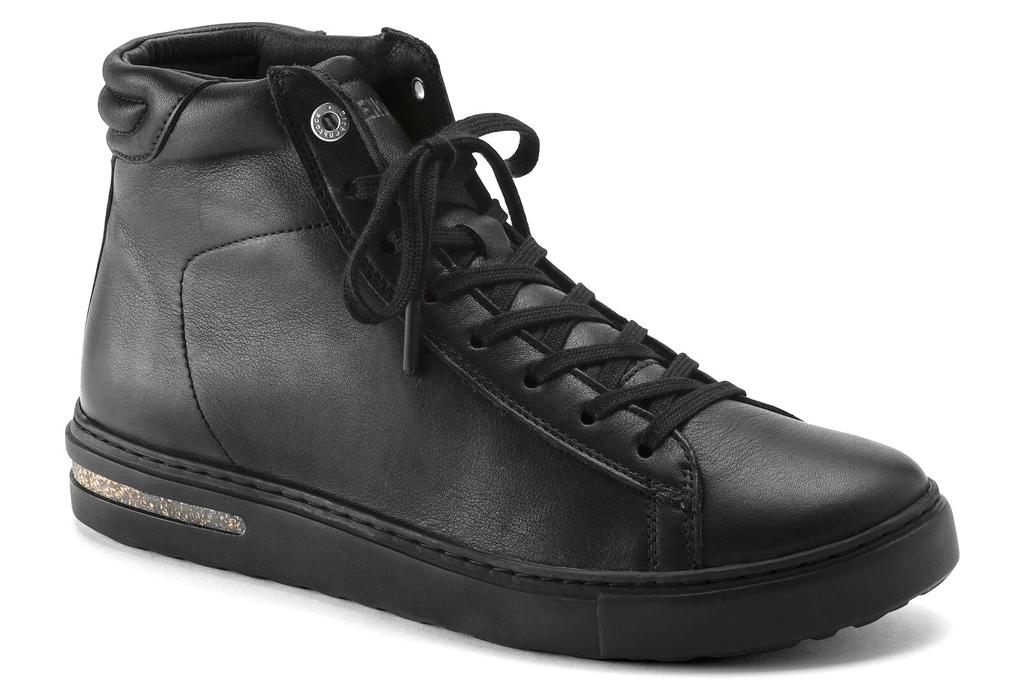 Birkenstock Bend Mid, black leather sneaker
