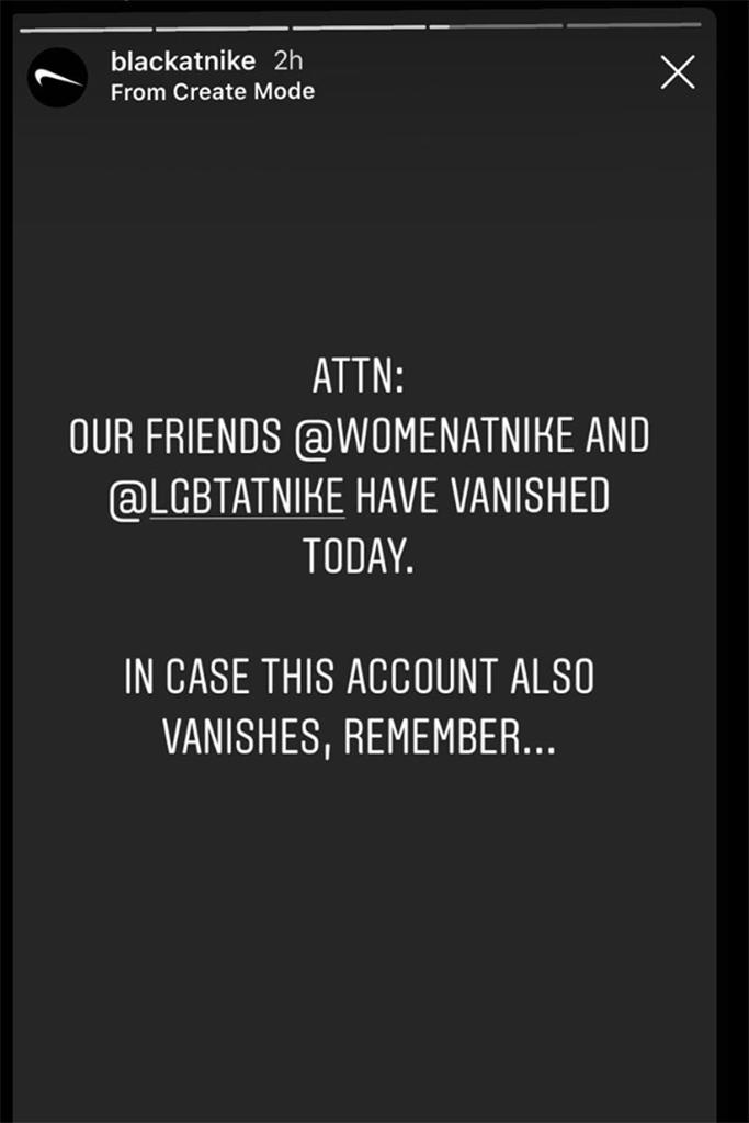 Black at Nike Instagram
