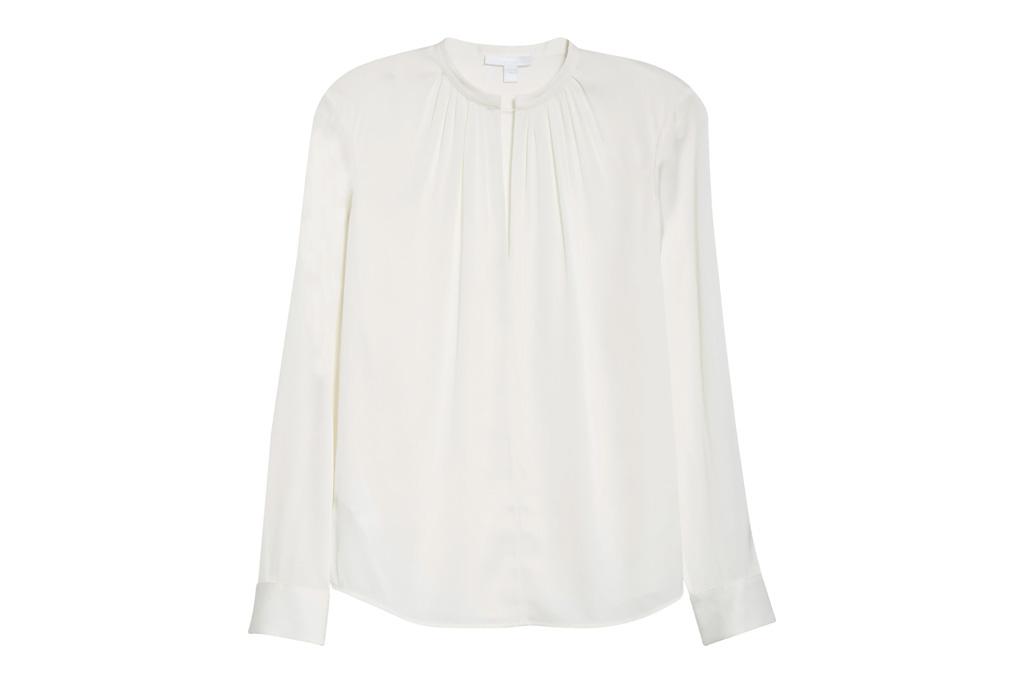 boss, white shirt, blouse