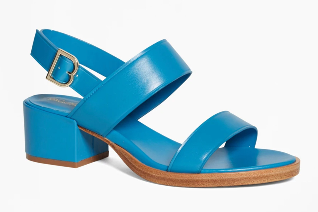brooks brothers, sale, womens, blue, sandals