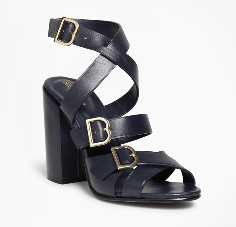 brooks brothers, sale, womens, navy, sandals
